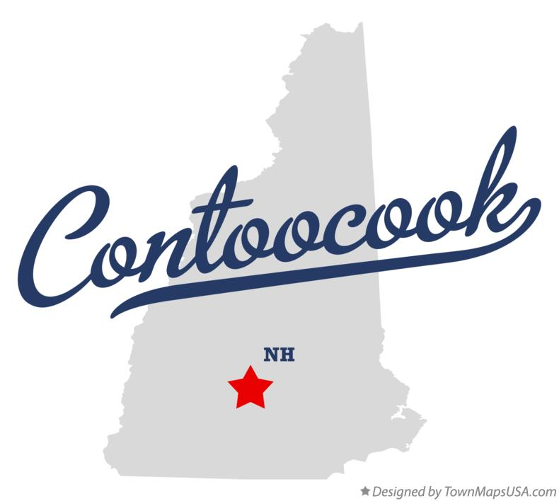 Map of Contoocook New Hampshire NH