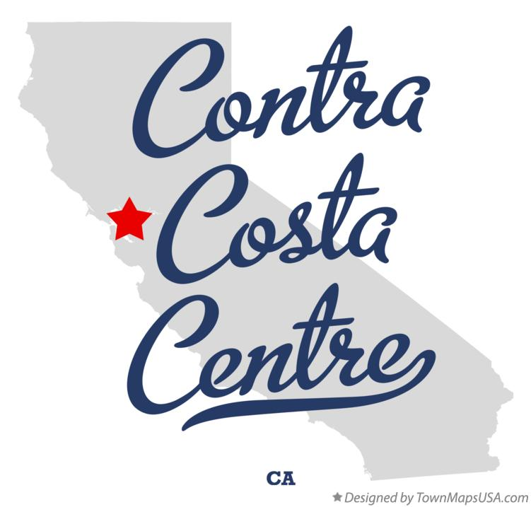 Map of Contra Costa Centre California CA