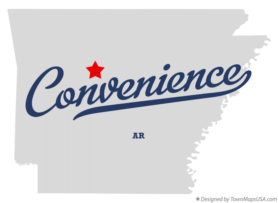 Map of Convenience Arkansas AR