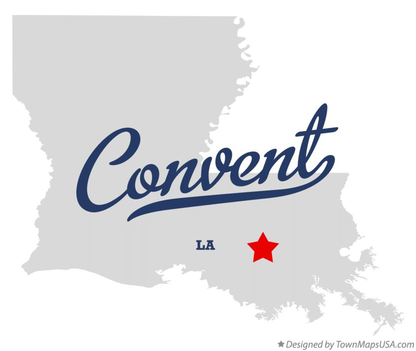 Map of Convent Louisiana LA