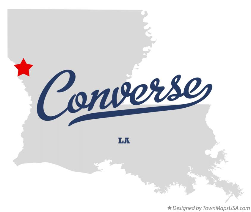 Map of Converse Louisiana LA
