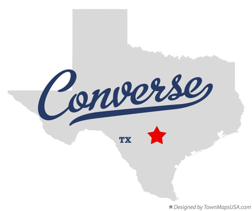 Map of Converse Texas TX
