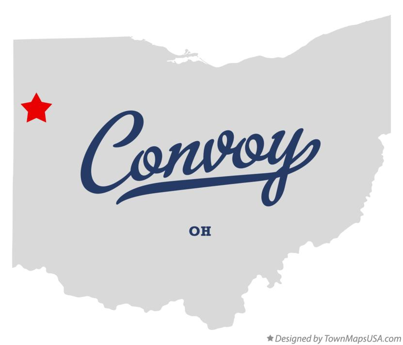Map of Convoy Ohio OH