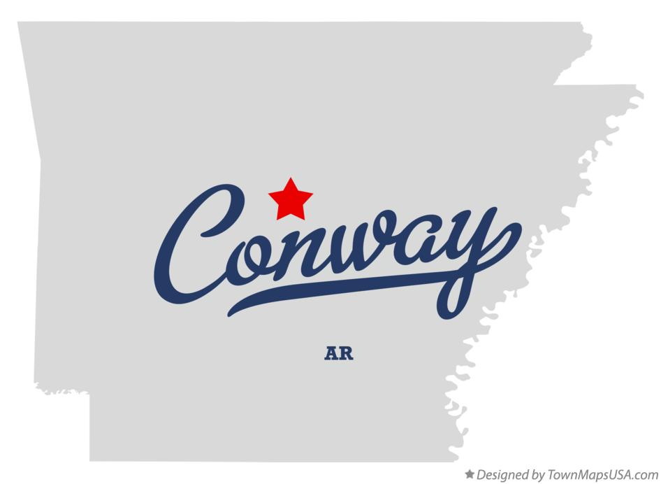 Map of Conway Arkansas AR