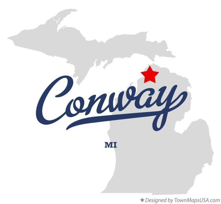 Map of Conway Michigan MI