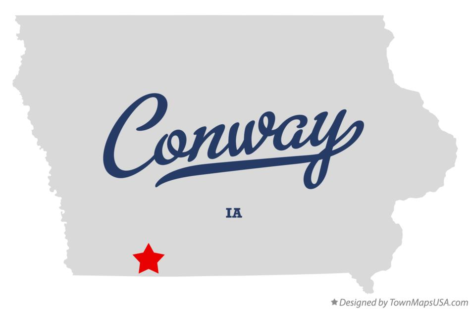 Map of Conway Iowa IA