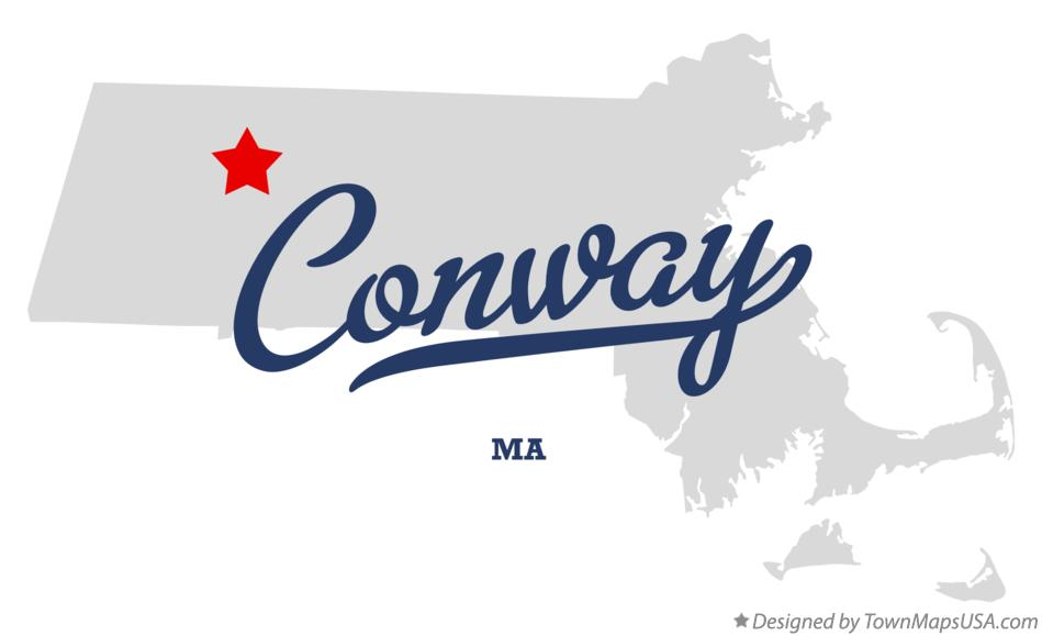 Map of Conway Massachusetts MA