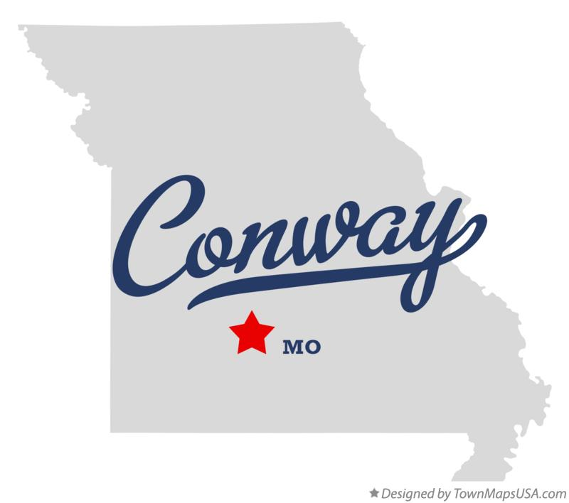 Map of Conway Missouri MO