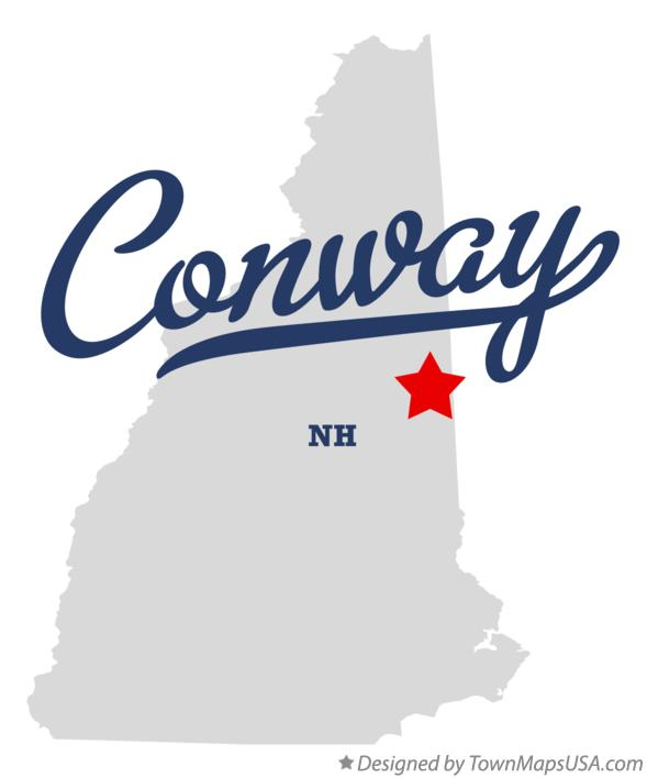 Map of Conway New Hampshire NH