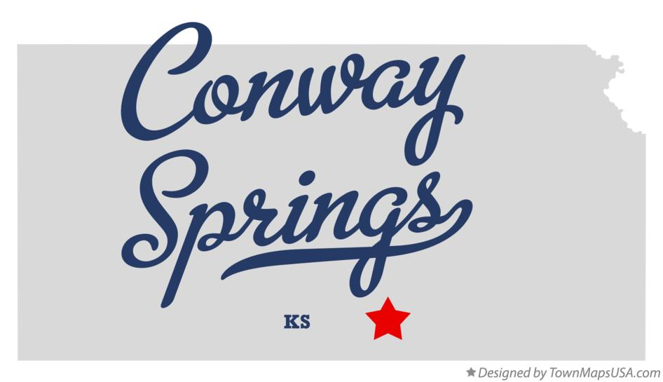 Map of Conway Springs Kansas KS