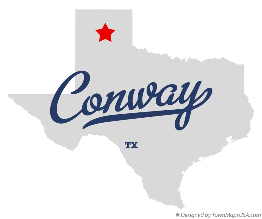 Map of Conway Texas TX