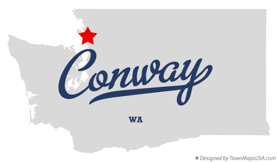 Map of Conway Washington WA