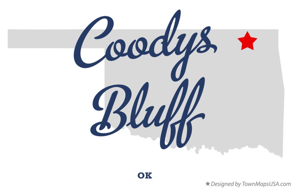 Map of Coodys Bluff Oklahoma OK