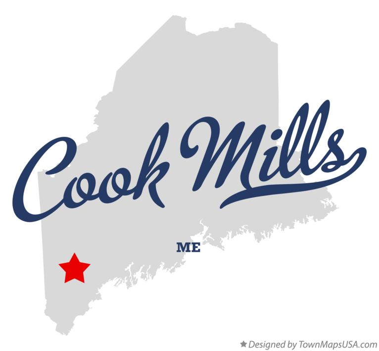 Map of Cook Mills Maine ME
