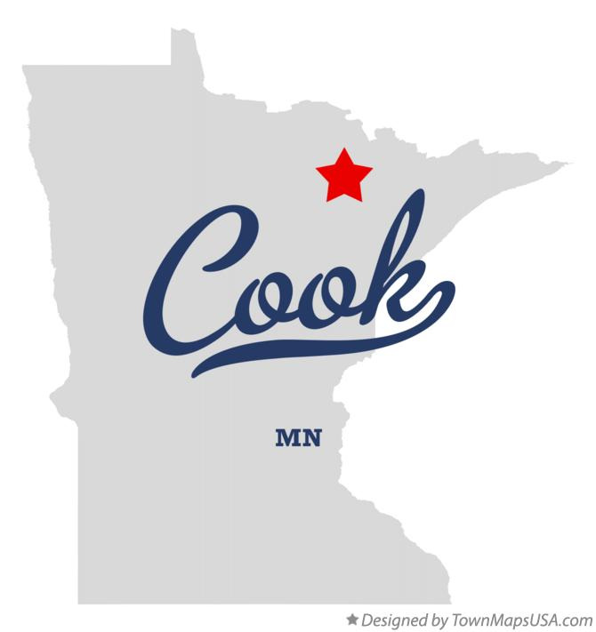 Map of Cook Minnesota MN