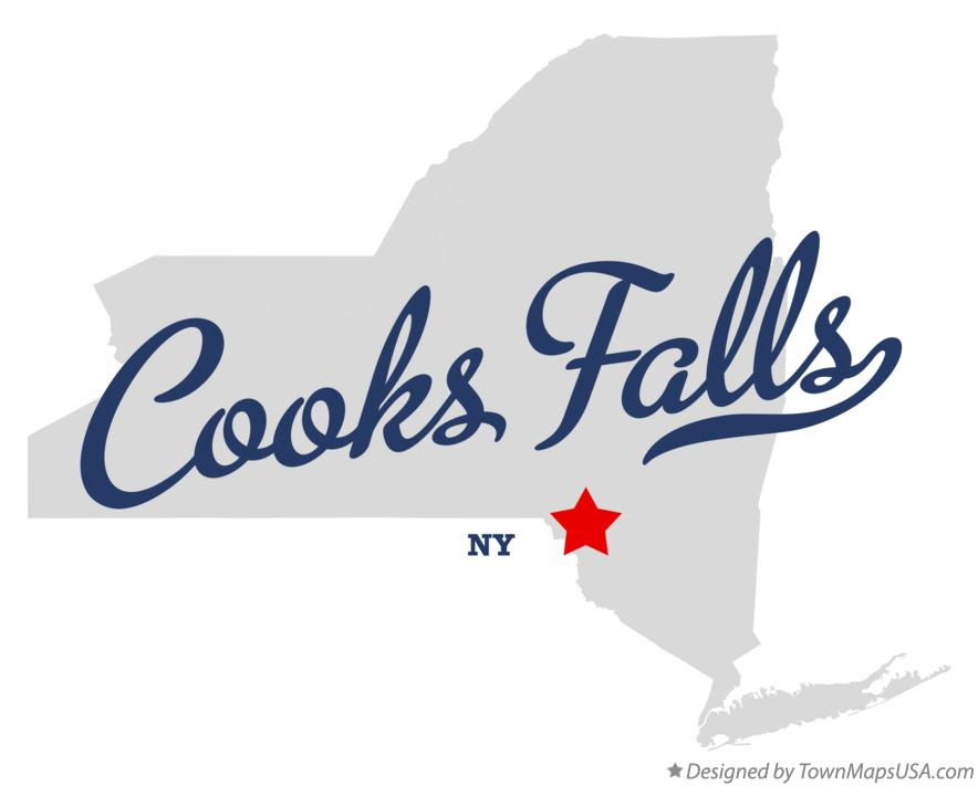 Map of Cooks Falls New York NY