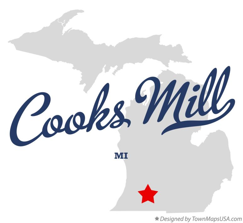 Map of Cooks Mill Michigan MI