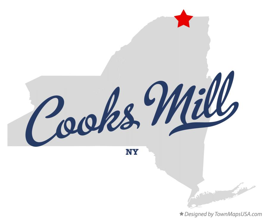 Map of Cooks Mill New York NY