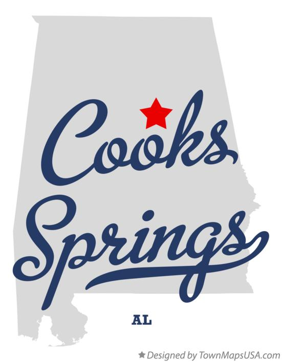 Map of Cooks Springs Alabama AL
