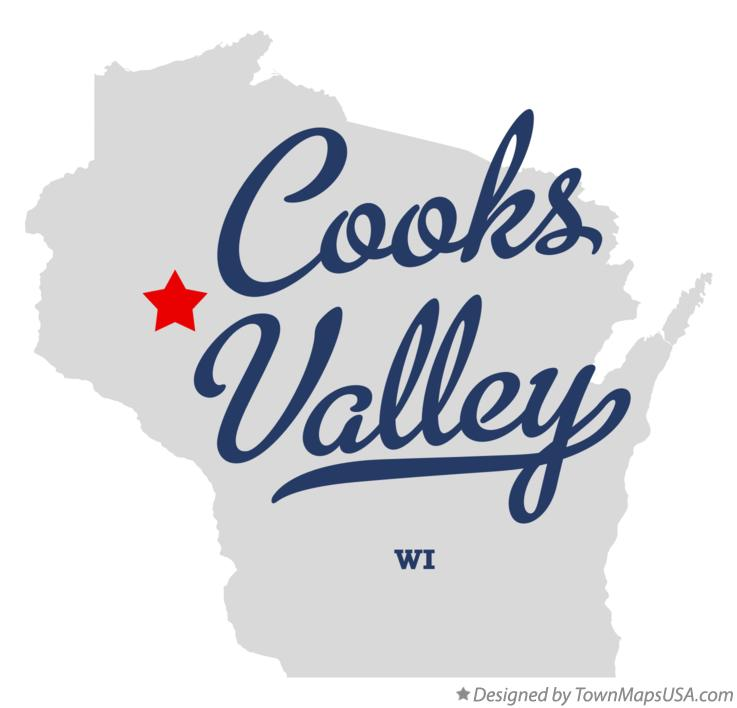 Map of Cooks Valley Wisconsin WI