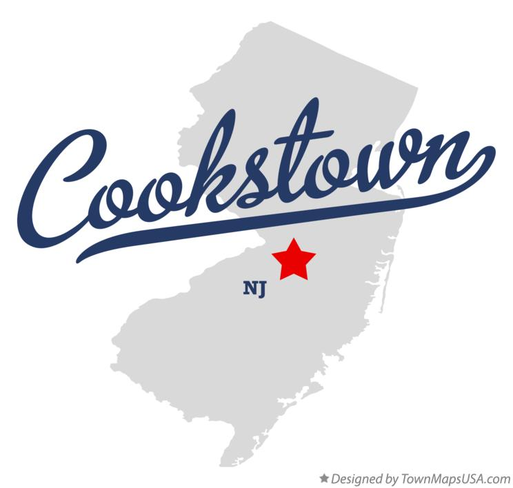 Map of Cookstown New Jersey NJ