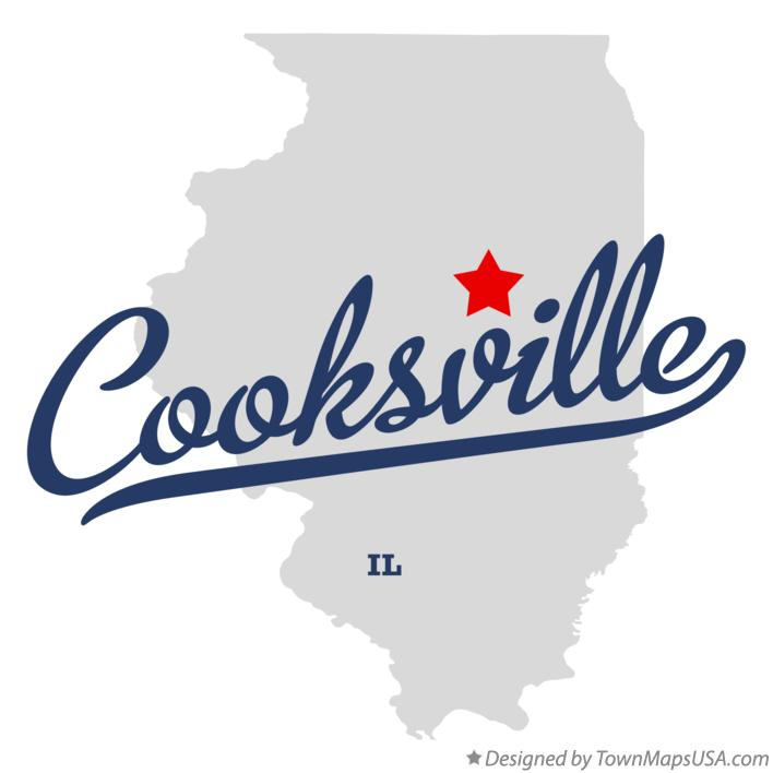 Map of Cooksville Illinois IL
