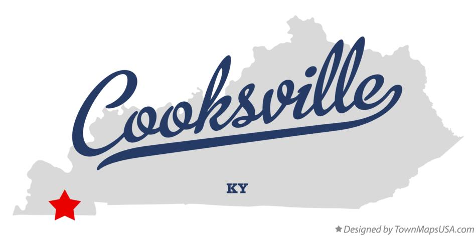 Map of Cooksville Kentucky KY
