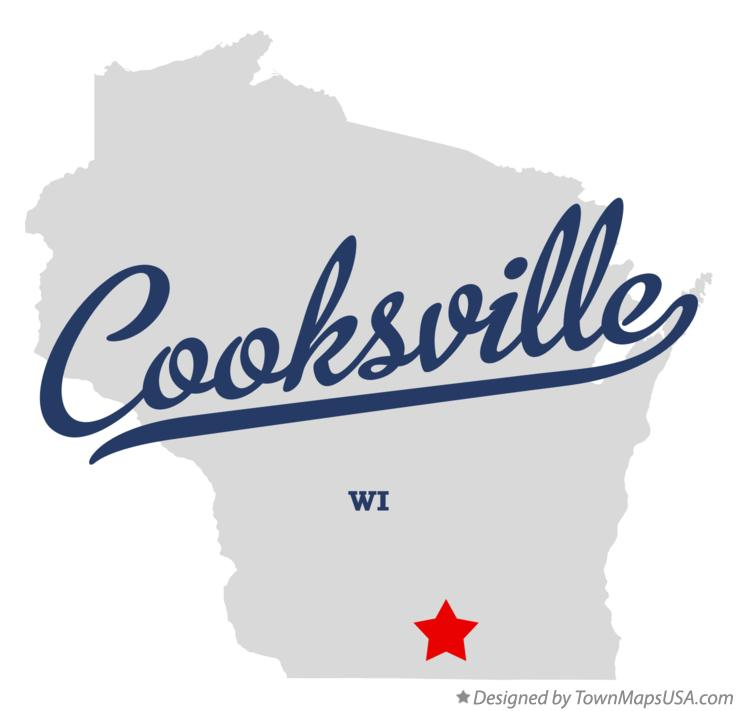 Map of Cooksville Wisconsin WI