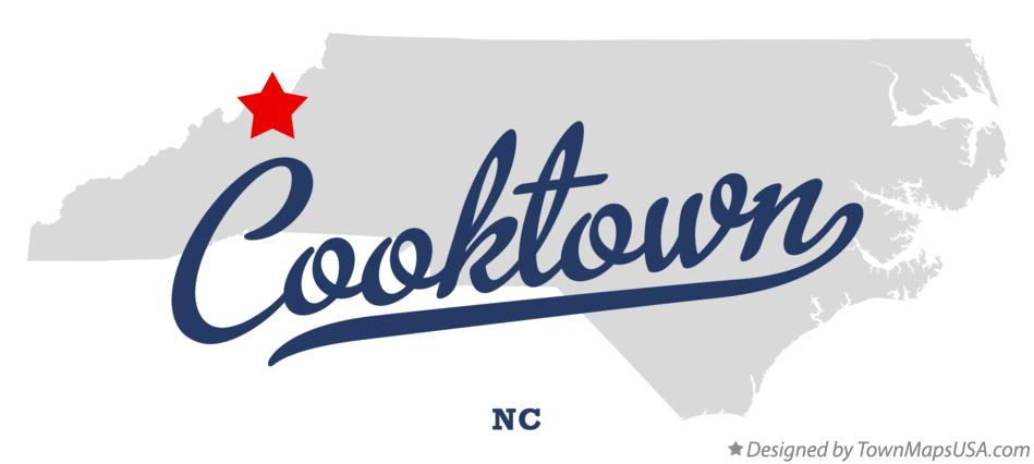 Map of Cooktown North Carolina NC