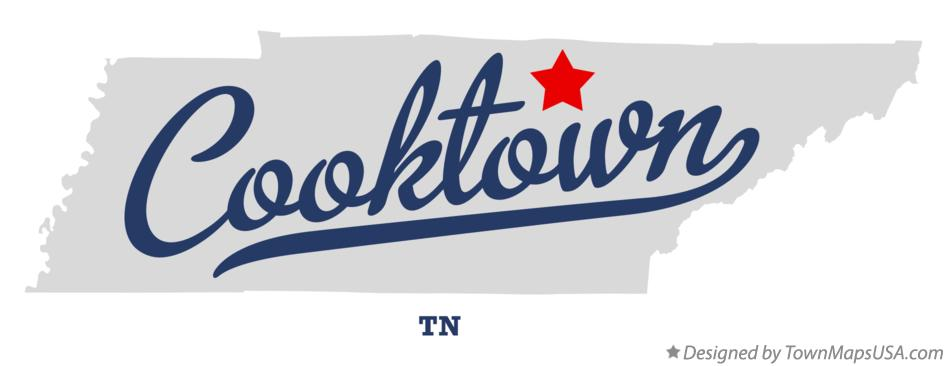 Map of Cooktown Tennessee TN