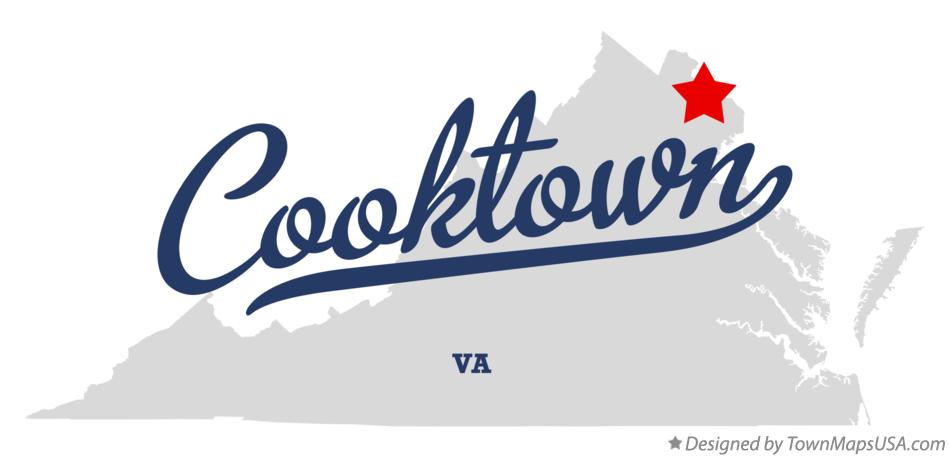 Map of Cooktown Virginia VA