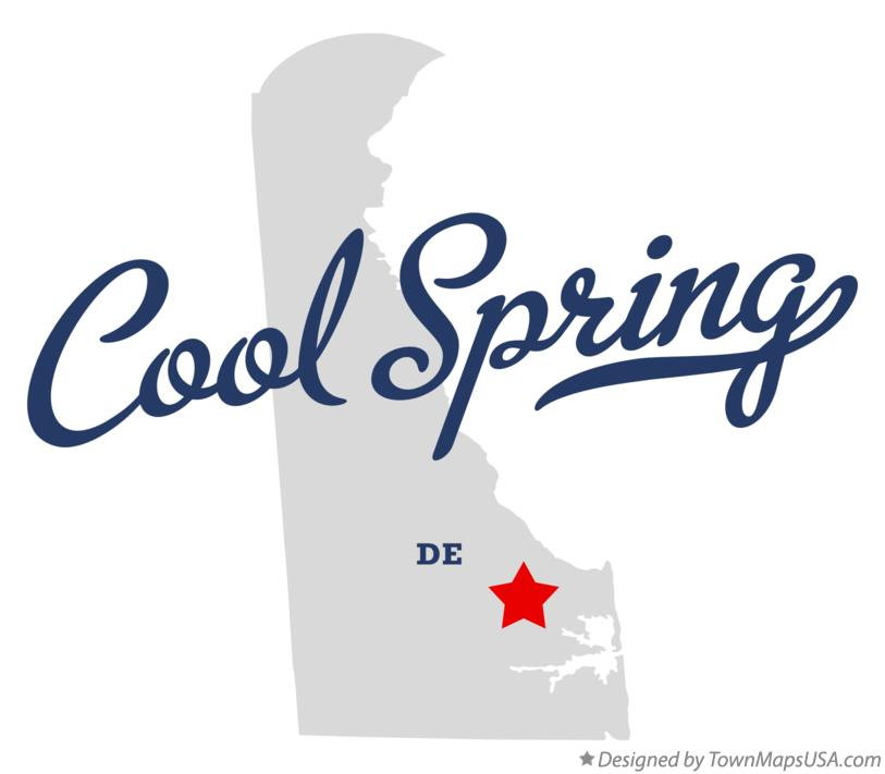 Map of Cool Spring Delaware DE