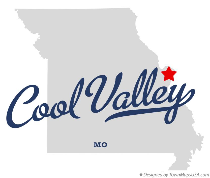 Map of Cool Valley Missouri MO