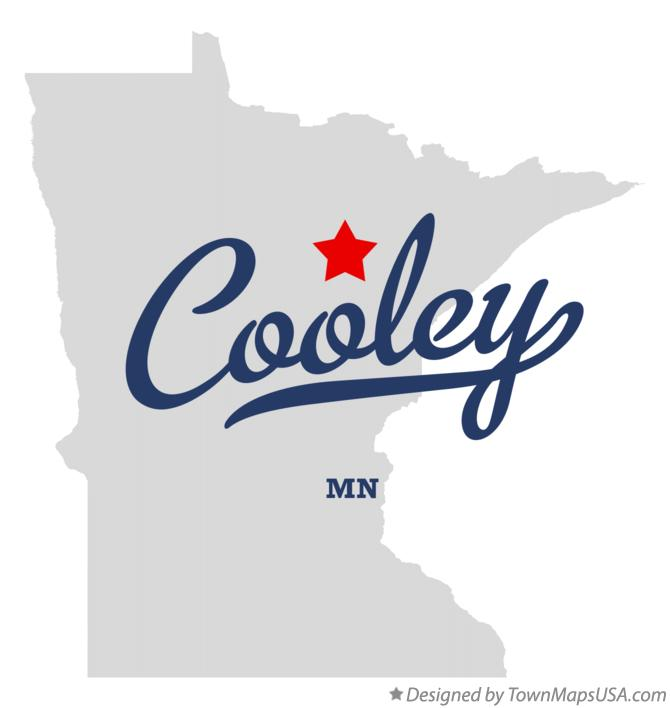 Map of Cooley Minnesota MN