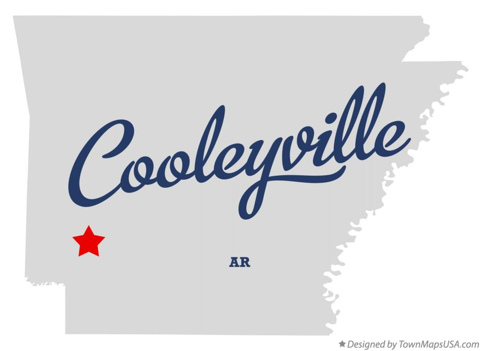 Map of Cooleyville Arkansas AR