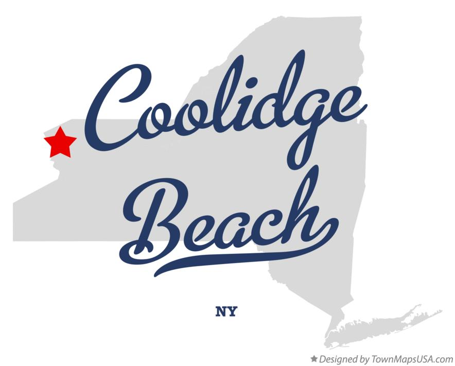 Map of Coolidge Beach New York NY