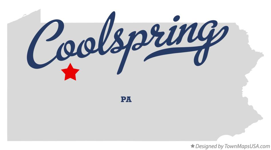 Map of Coolspring Pennsylvania PA