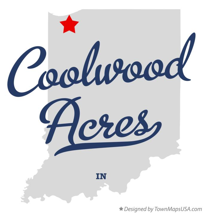 Map of Coolwood Acres Indiana IN