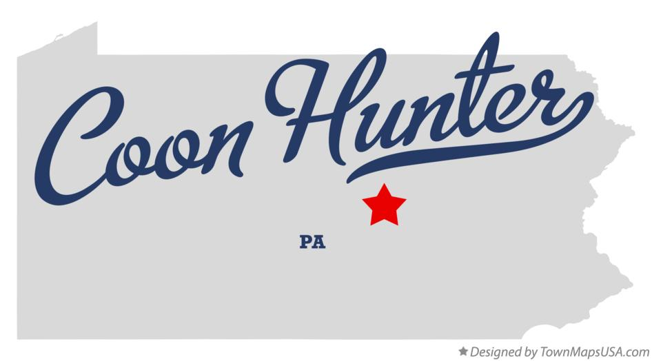 Map of Coon Hunter Pennsylvania PA