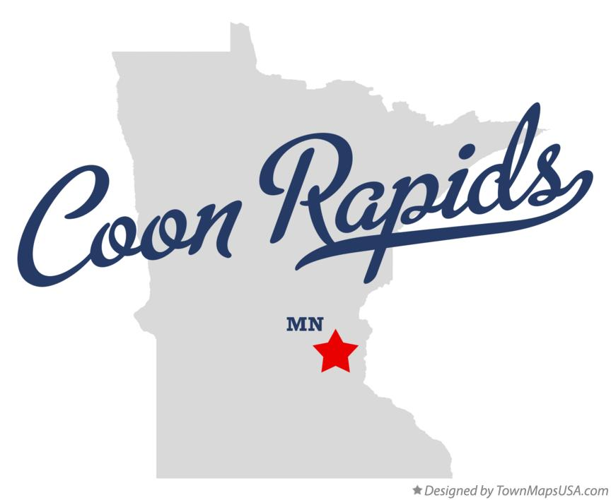 Map of Coon Rapids Minnesota MN