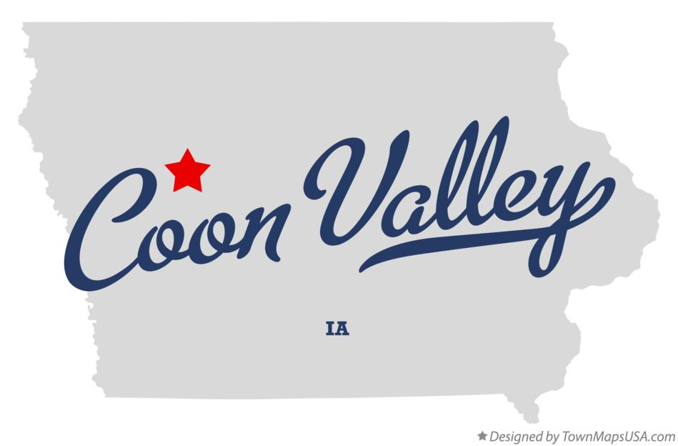 Map of Coon Valley Iowa IA