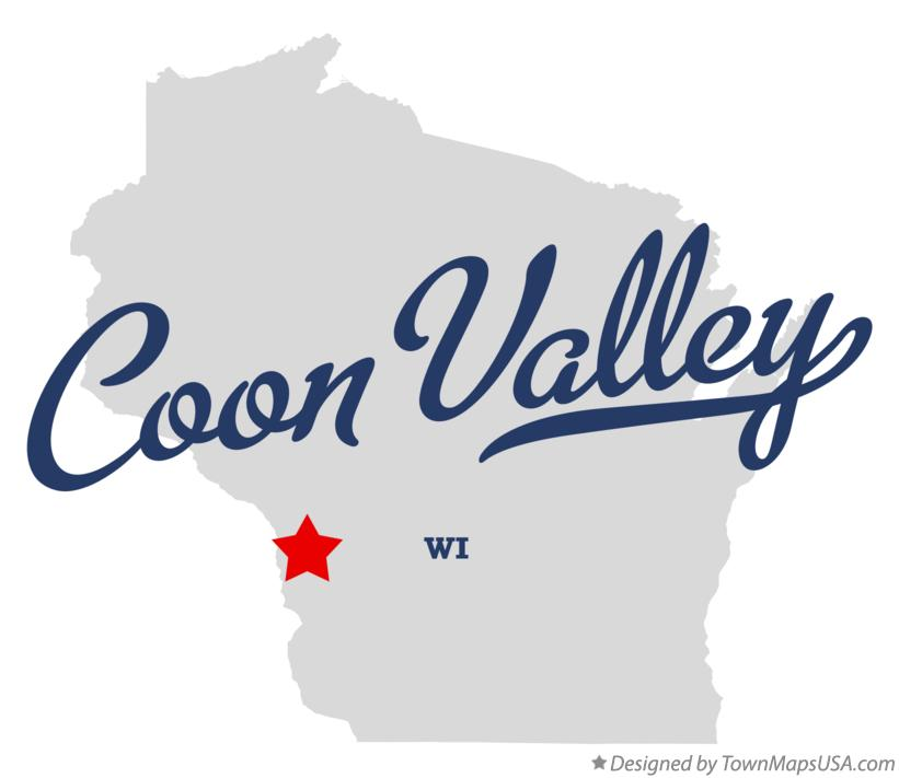 Map of Coon Valley Wisconsin WI