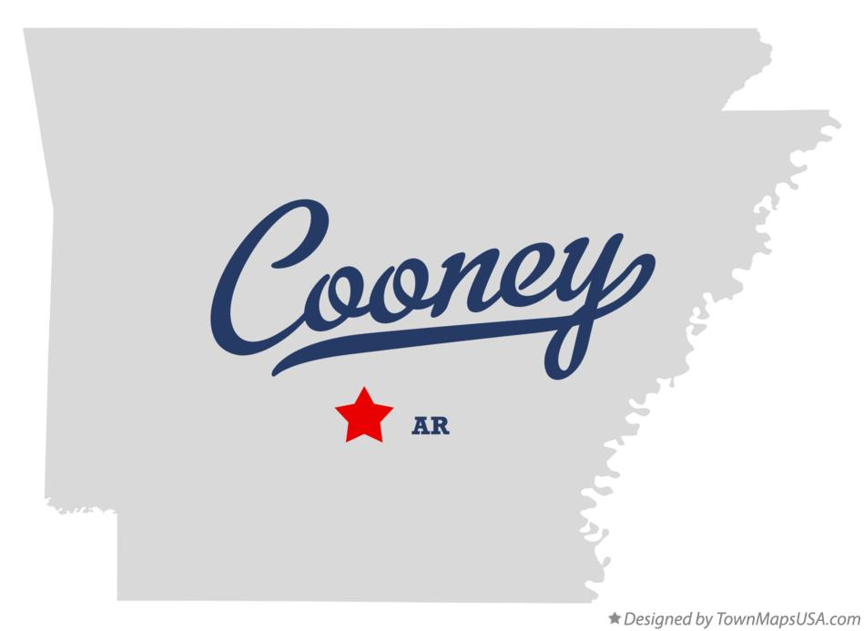 Map of Cooney Arkansas AR