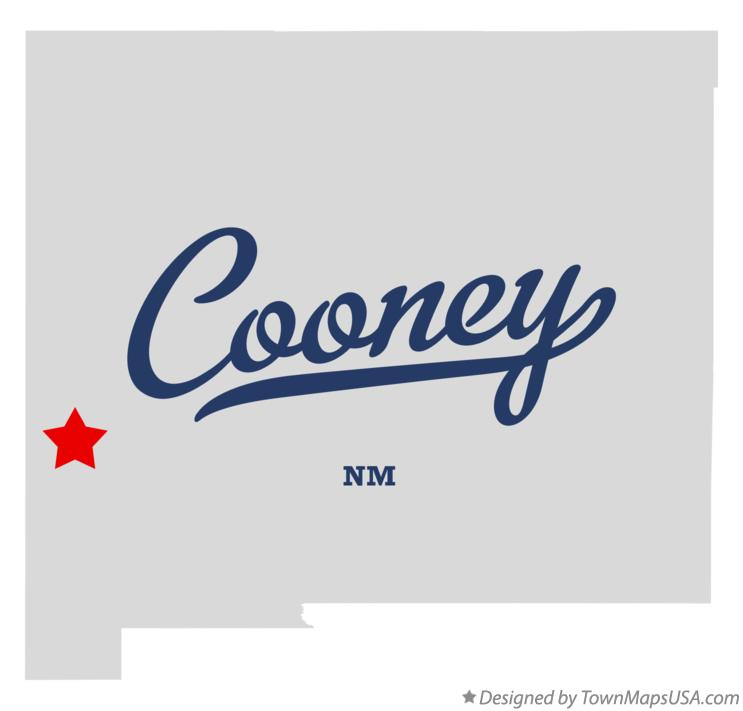 Map of Cooney New Mexico NM