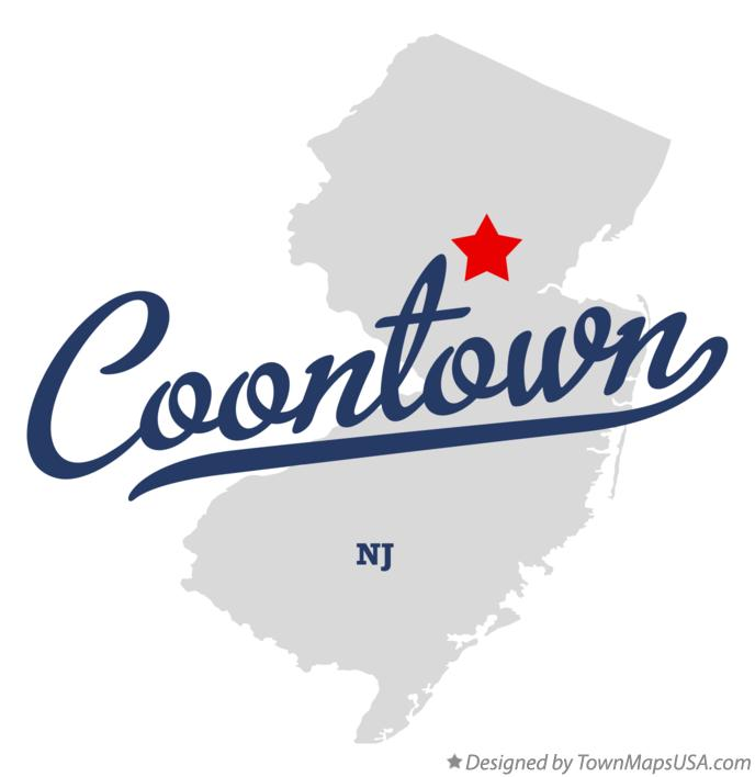 Map of Coontown New Jersey NJ