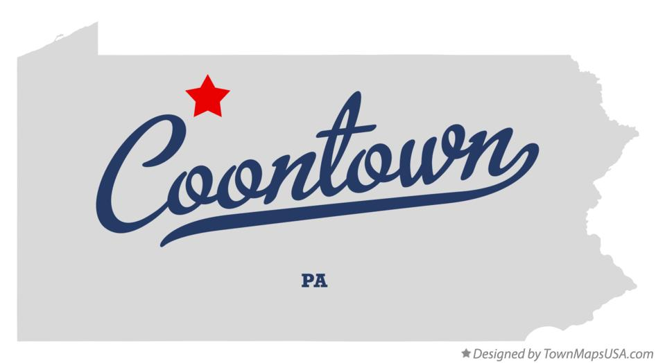 Map of Coontown Pennsylvania PA