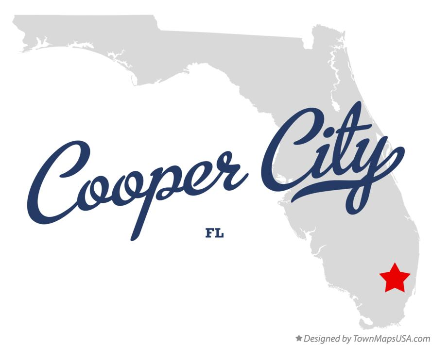 Map of Cooper City Florida FL
