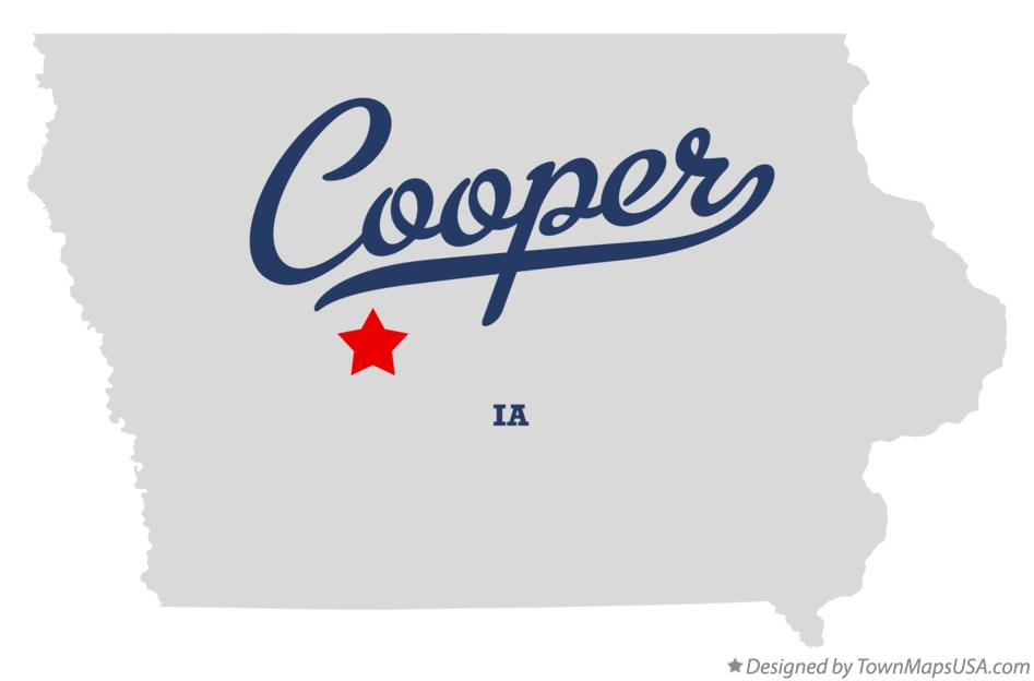 Map of Cooper Iowa IA