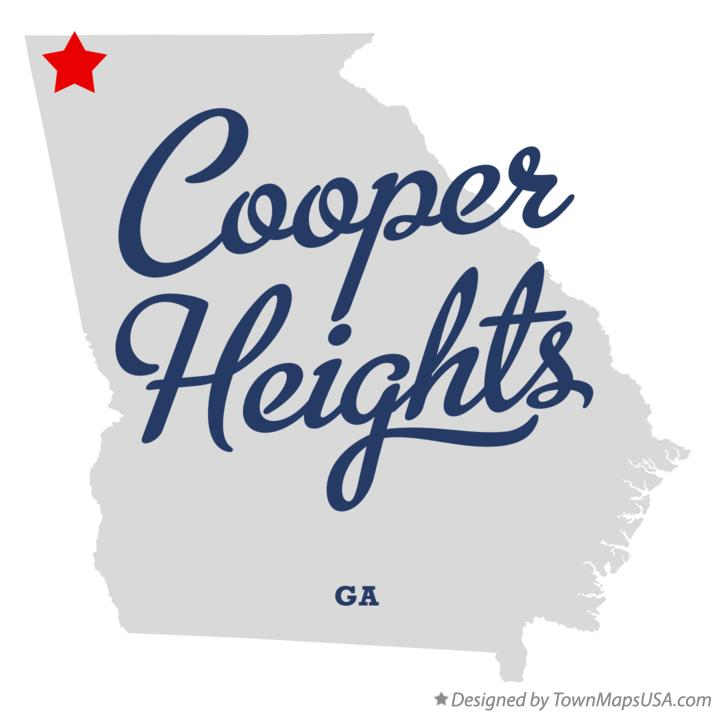 Map of Cooper Heights Georgia GA