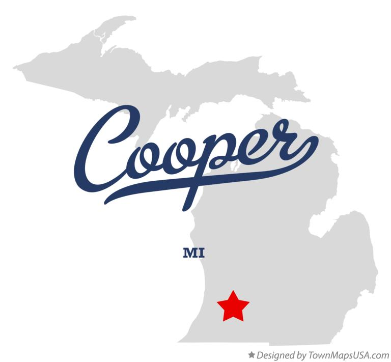 Map of Cooper Michigan MI